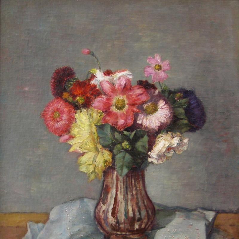 Simka Simkhovitch, Floral Still Life, 1934