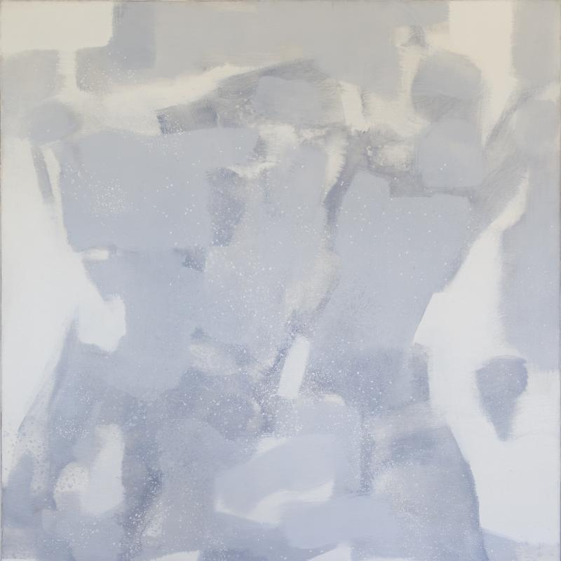 Carl Holty, Untitled (Gray, White), 1971