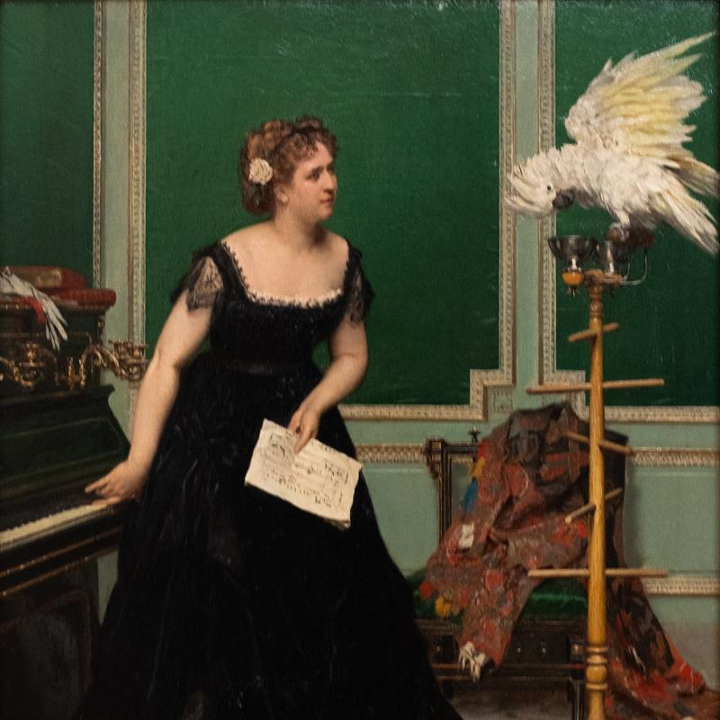 Gustave De Jonghe, Woman with a Parrel, N/A