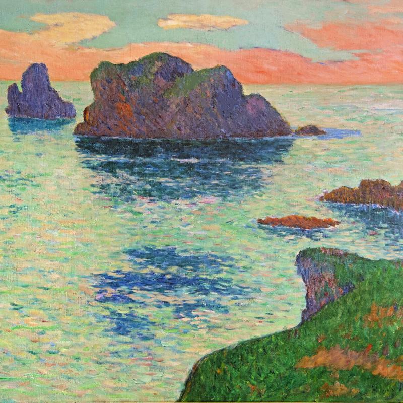 Henry Moret, Ouessant, Ciel Rose, 1895