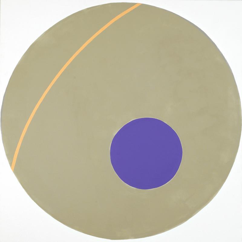 Alexander Liberman, Purple on Green, 1963