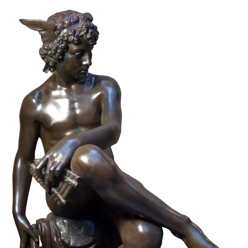 Marius Pierre Montagne, Seated Mercury, Circa 1867