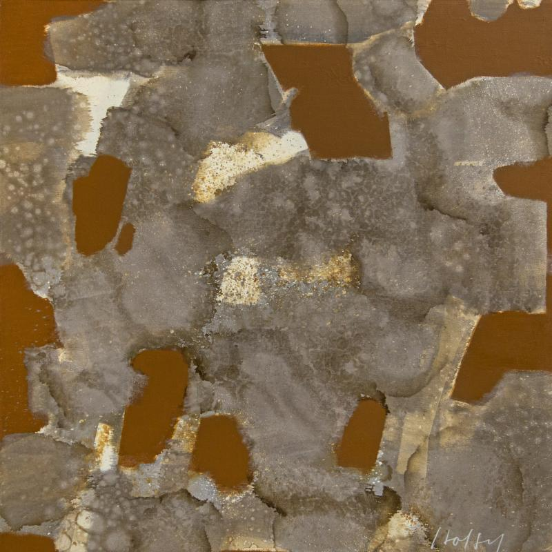 Carl Holty, Gray Stains with Burnt Sienna Brushwork