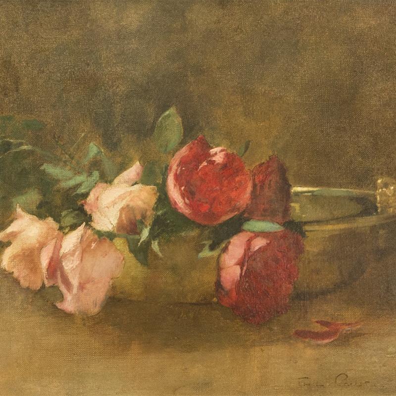 Soren Emil Carlsen, Roses in a Dish, 1893