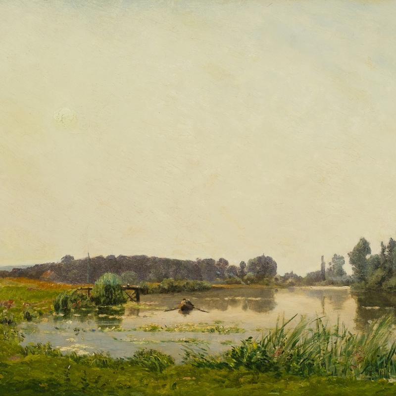 Hippolyte-Camille Delpy, FluBlandschaft in der Île de France, 1903