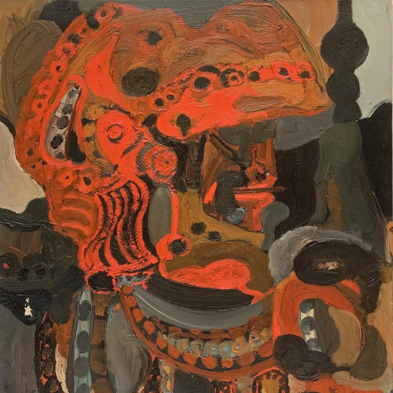 Pinchas Maryan, Orange Helmet, 1953