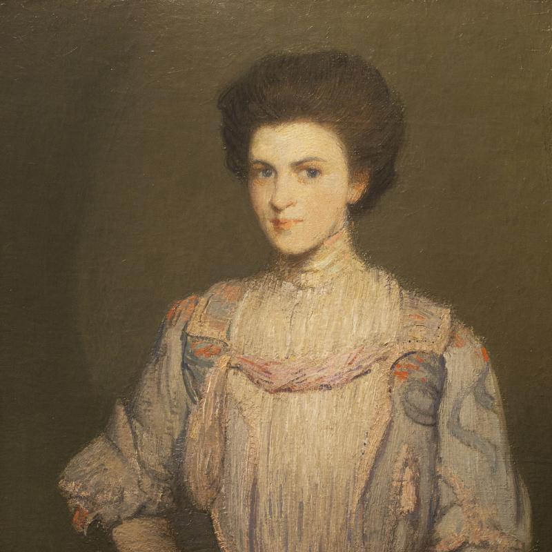 Julian Alden Weir, An American Girl, Circa 1911-12