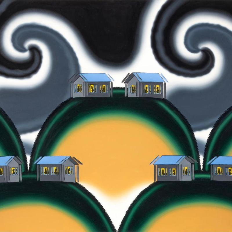 Roger Brown, Dancing Houses - The Earthquake of 1994, 1994
