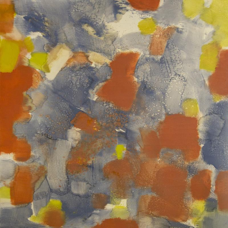 Carl Holty, Untitled (Red, Yellow, Blue, Gray), 1971