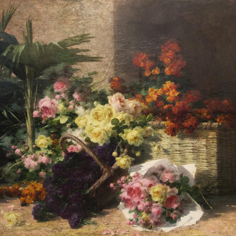 André Perrachon, Chez la Marchande de Fleurs, Circa 1898