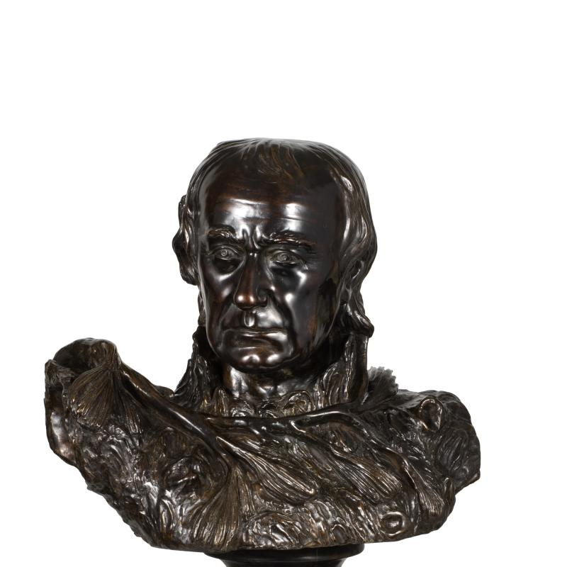 William Rush, Self Portrait (The Pine Knot Portrait), Modeled 1822, cast 1971