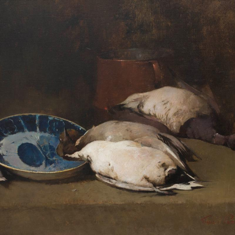 Soren Emil Carlsen , Ducks Still Life, 1897