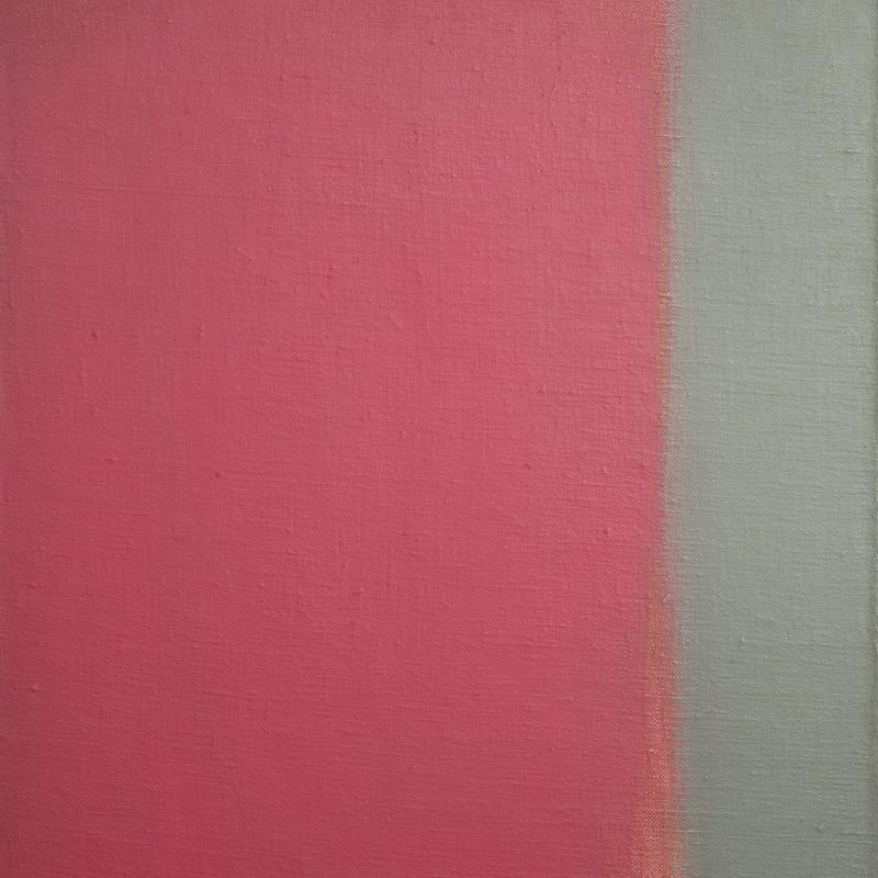 Carl Holty, Red with Gray Bar, 1963