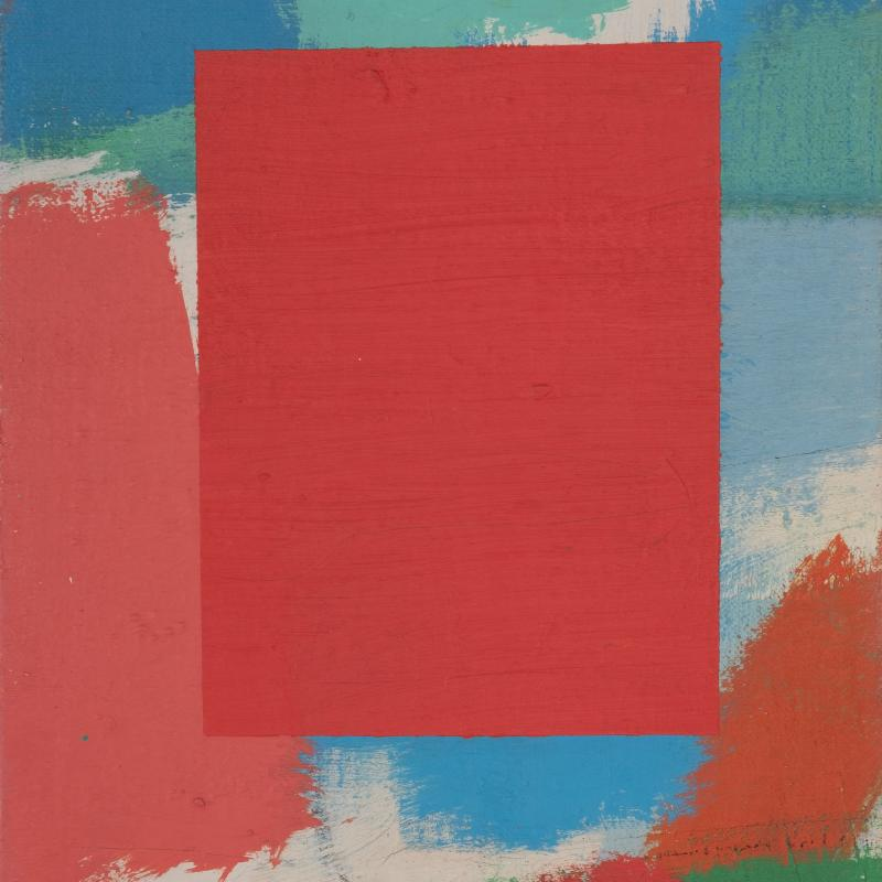 Carl Holty, Color Theory, Red Square #10, c. 1955