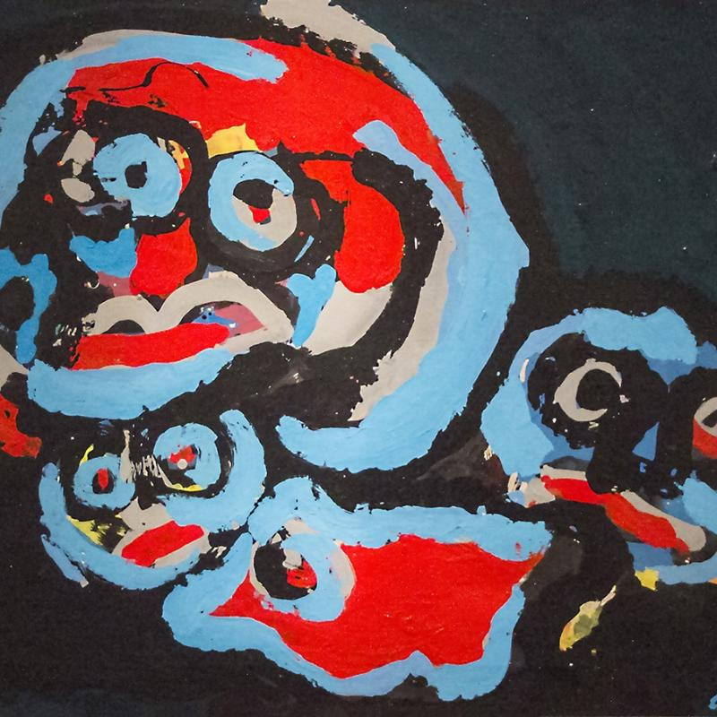 Karel Appel, Figure Composition