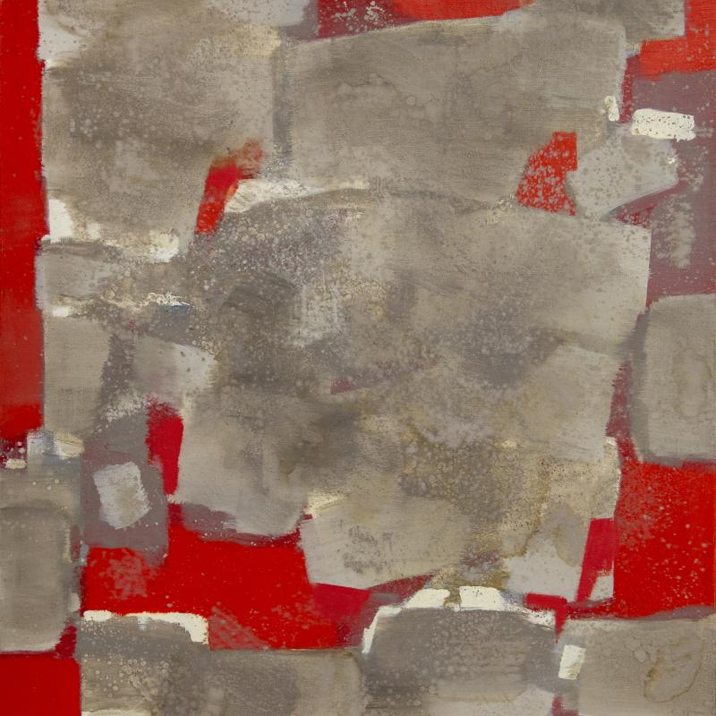 Carl Holty, Gray Volume in Red, 1968