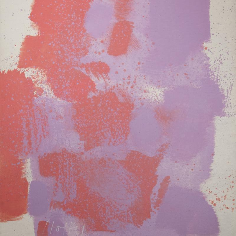 Carl Holty, Untitled #58 (Red, Purple, White), 1970