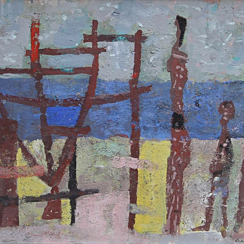 Arnold A. Blanch, The Waterfront, 1955