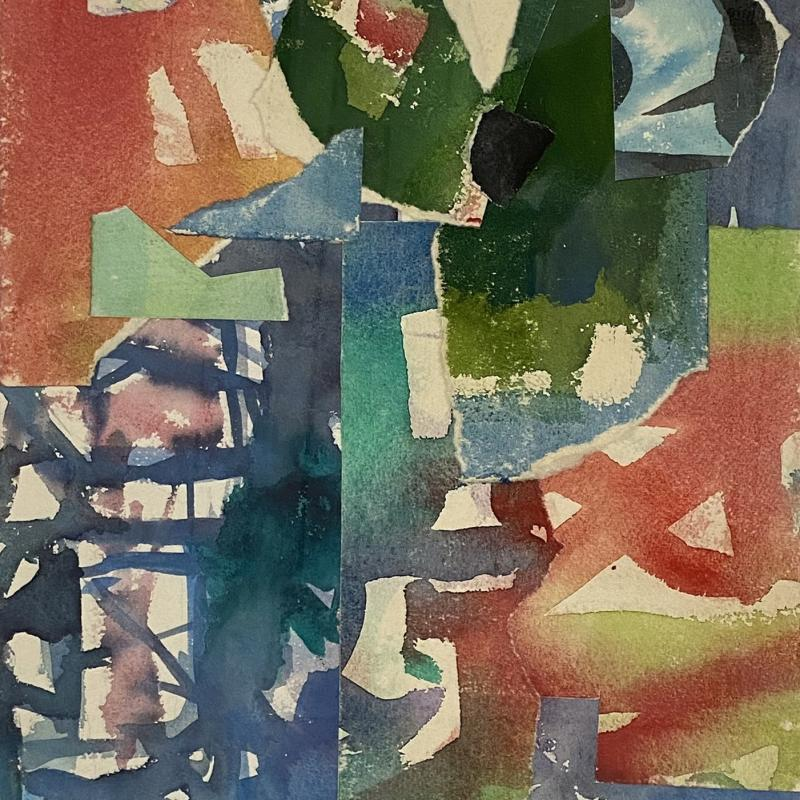 Carl Holty, Collage #395, c. 1957