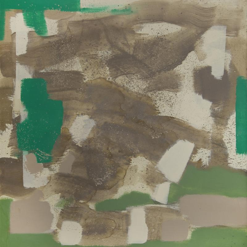 Carl Holty, Untitled (Tan, Green, White)