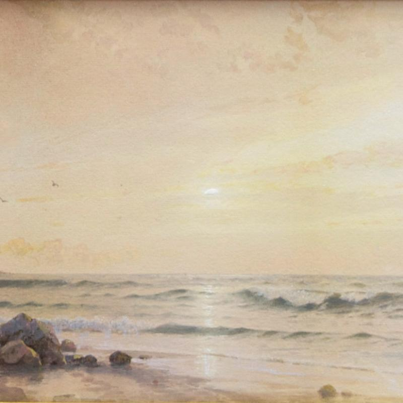 William Trost Richards, Twin Lights, Thacher Island, 1873
