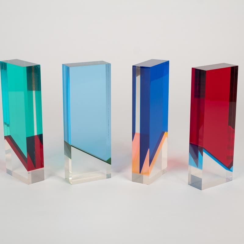 Vasa Velizar Mihich, Four Small Columns, 1972