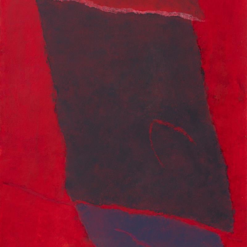 Theodoros Stamos, Infinity Field Lefkada Series, Red, 1978, 1978