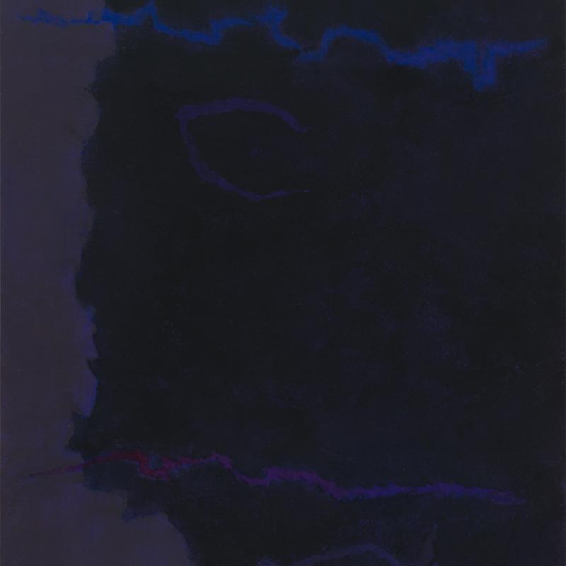 "Theodoros Stamos, Infinity Field, Lefkada Series, ""dark"", 1980"