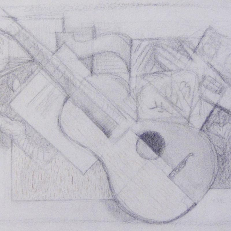 Simka Simkhovitch, Abstract with Guitar, 1953