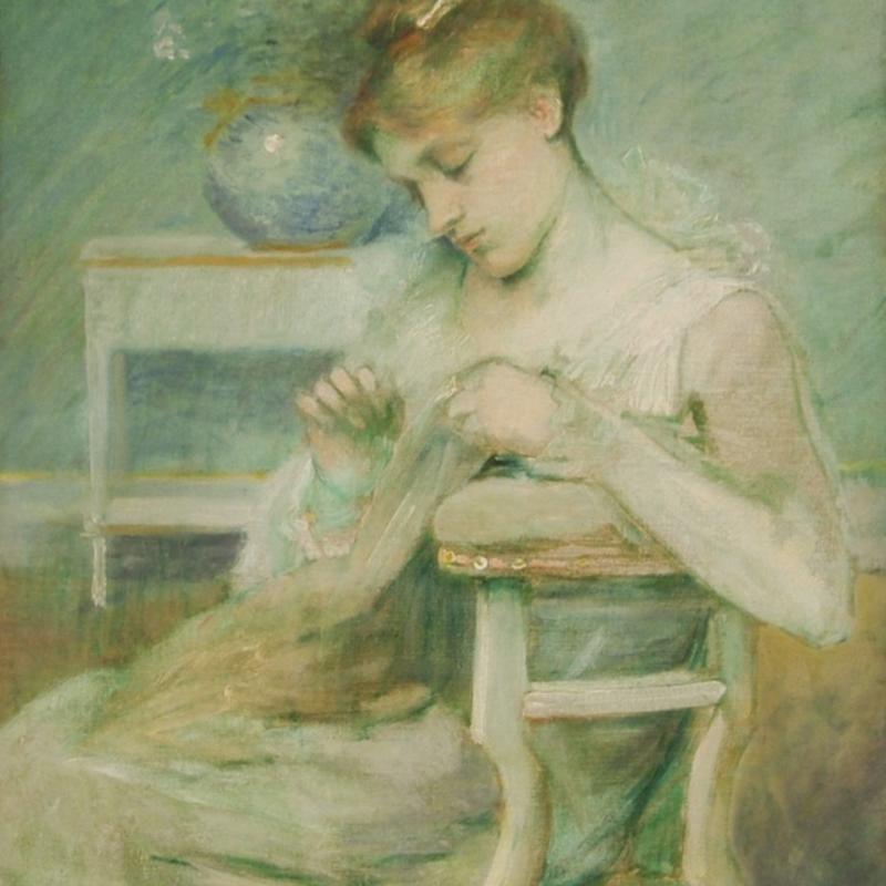 Julian Alden Weir, Composition in Green, Circa 1885