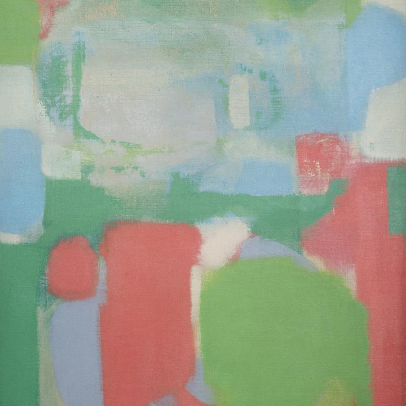 Carl Holty, Untitled #168 (Green, Red), 1964