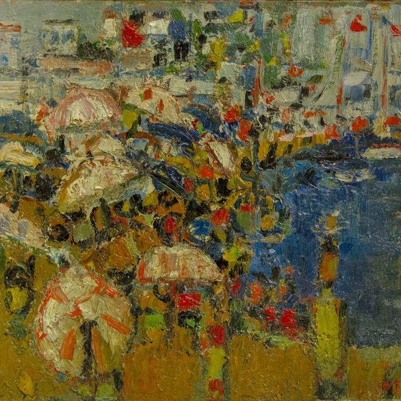 André Cottavoz, Les Parasols, 1954