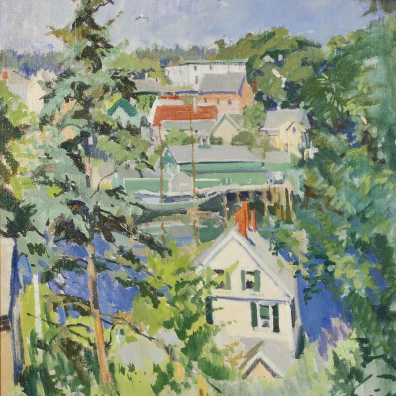 George Oberteuffer, Boothbay Harbor from the Hill