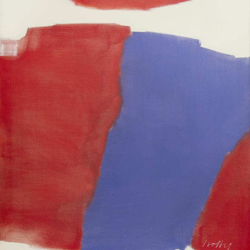 Carl Holty, Moving Red, 1963