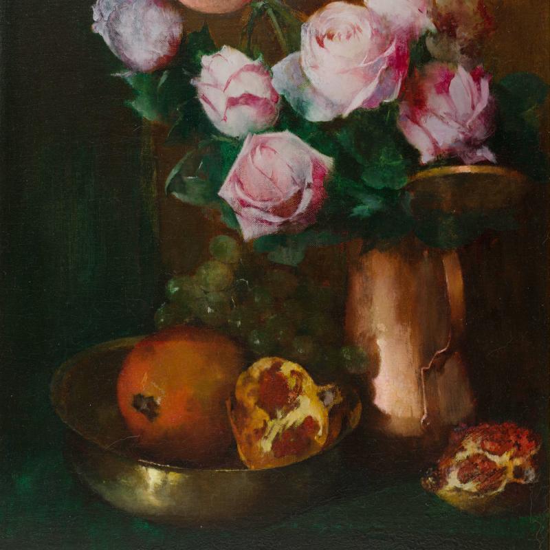 Soren Emil Carlsen, Roses in a Copper Jar, 1897