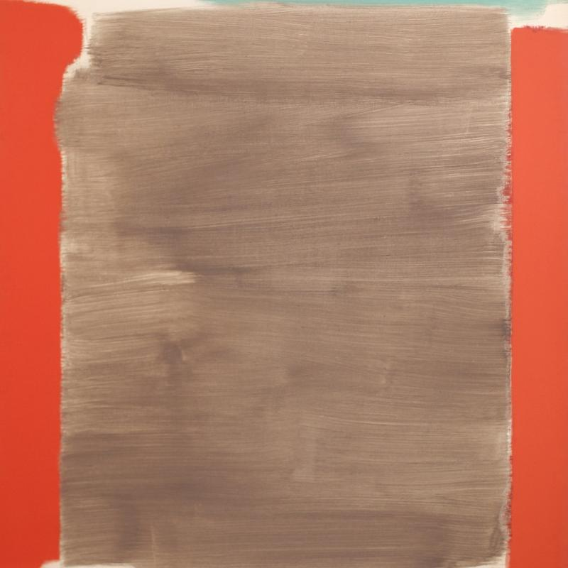 Carl Holty, Vertical Red and Gray, 1963