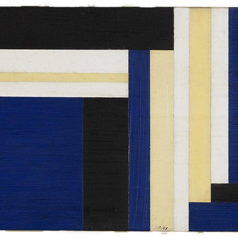 Ilya Bolotowsky, Blue Horizontal, 1968
