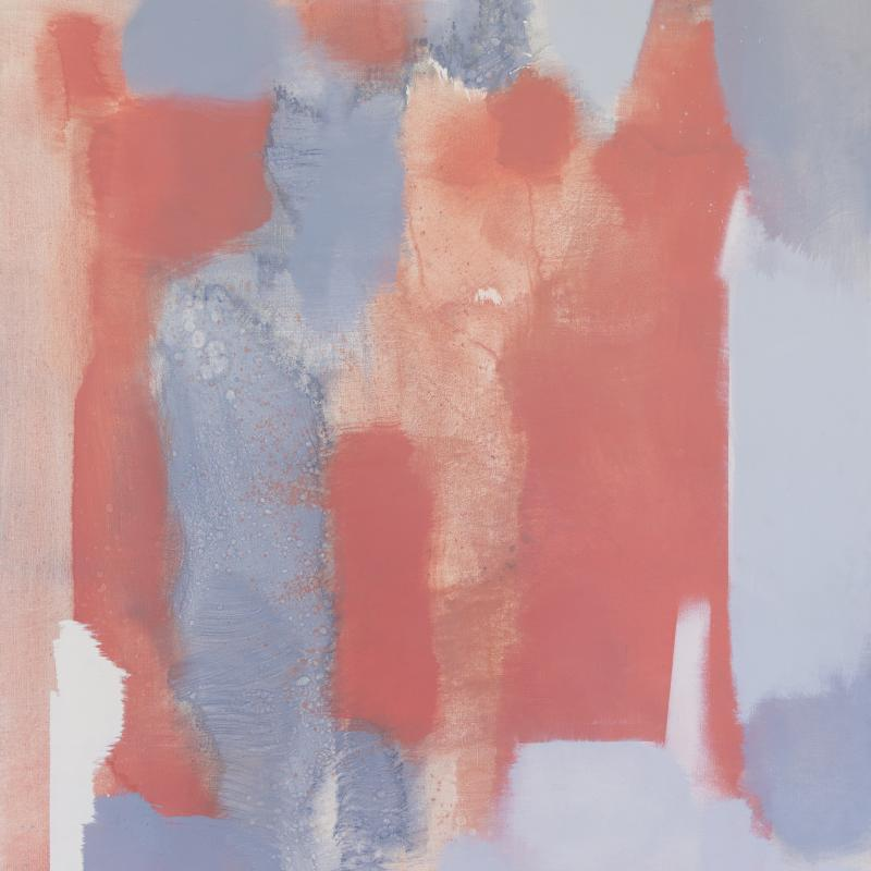 Carl Holty, Red, Gray #4, Circa 1969