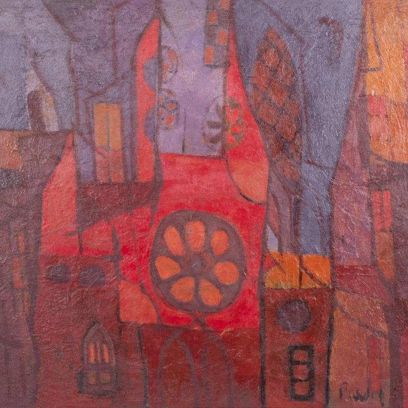 Donald Purdy, City Abstraction, Circa 1950's, 1950