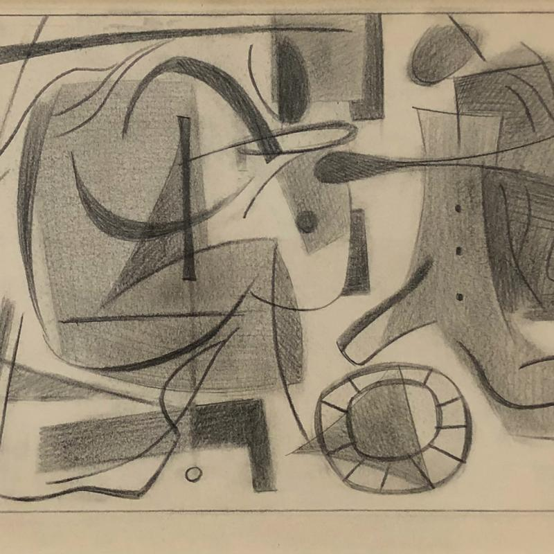 Carl Holty, Forms and Figures #3; Sketchbook #3, c. 1935