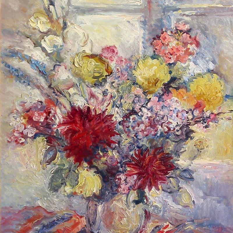 René Demeurisse, Floral Still Life
