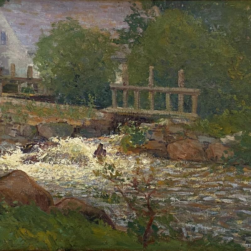 Gustave Loiseau, Landscape with River