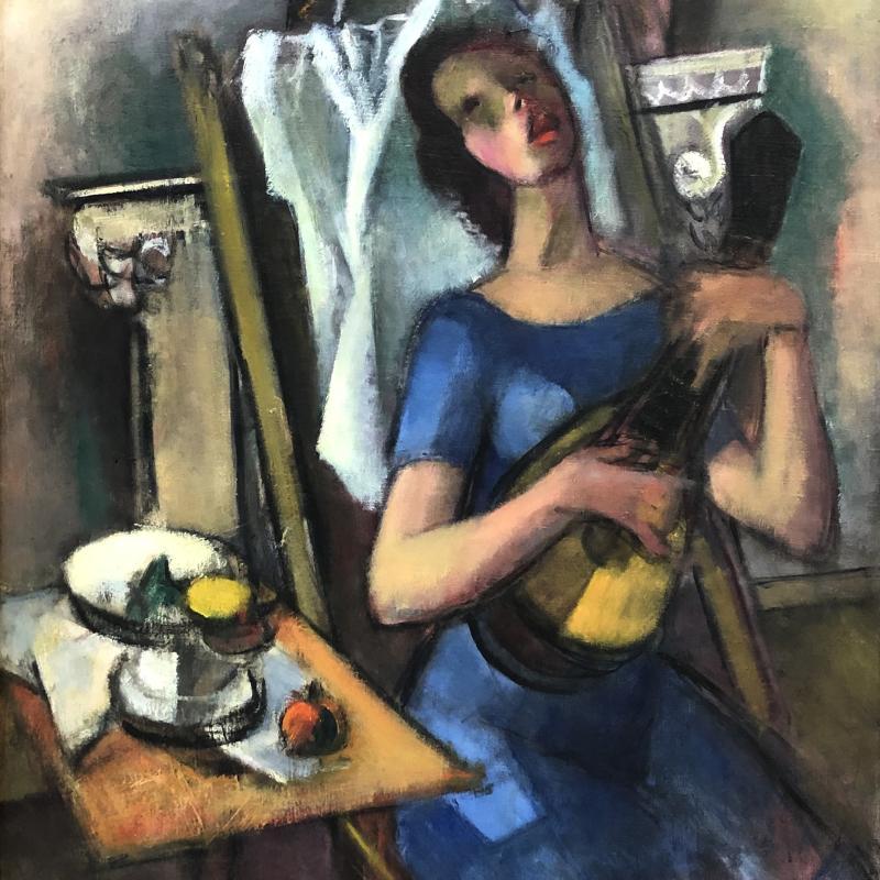 Simka Simkhovitch, Woman With A Guitar, c. 1940s