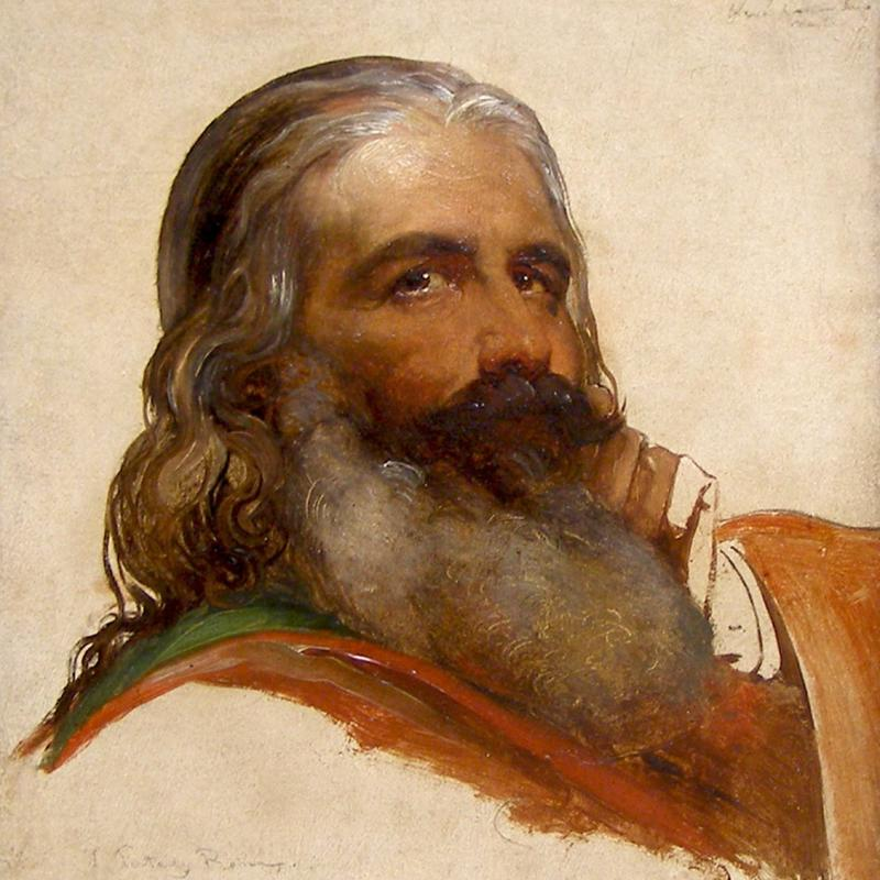 Jean-François Portaels, Study of the Head of a Bearded Man, 1845