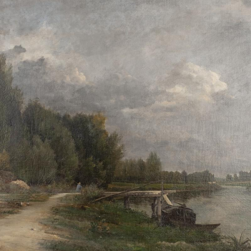 Antoine Chintreuil, Path Along the River, c. 1860s
