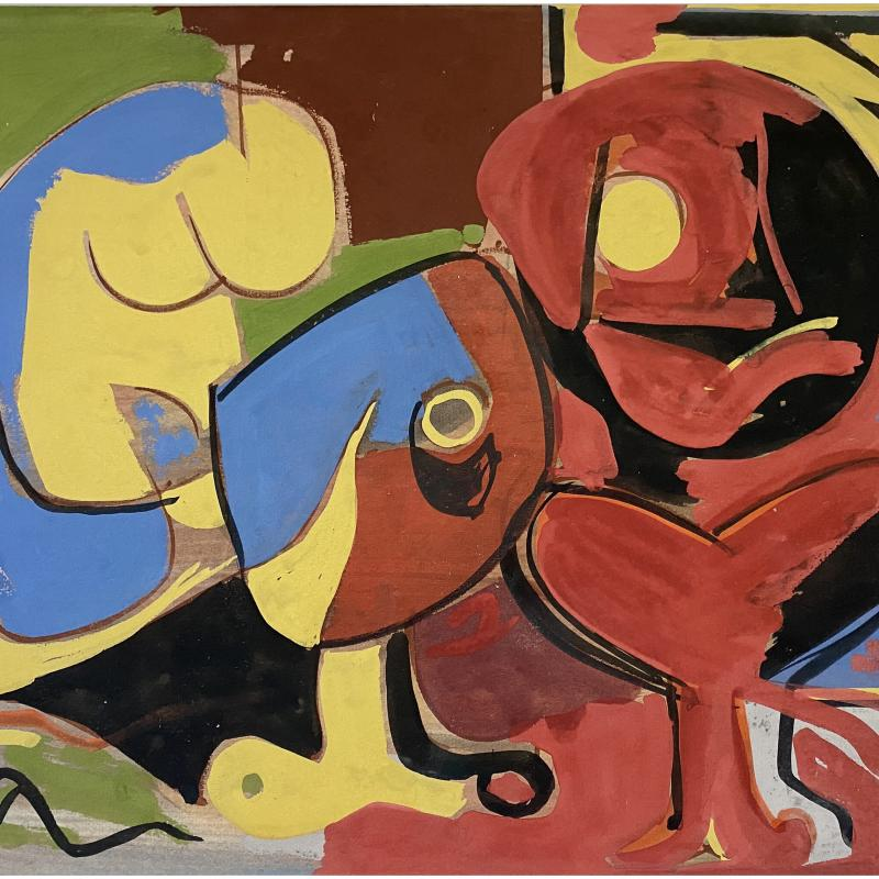Carl Holty, Figure Composition #1, c. 1930s