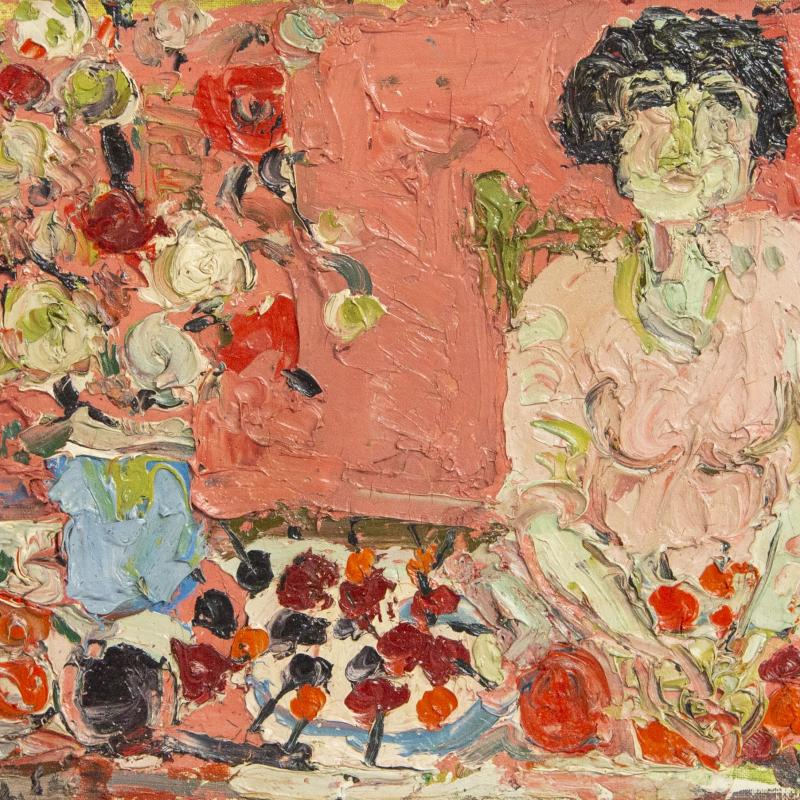 André Cottavoz, Simone et Les Fleurs, 1957