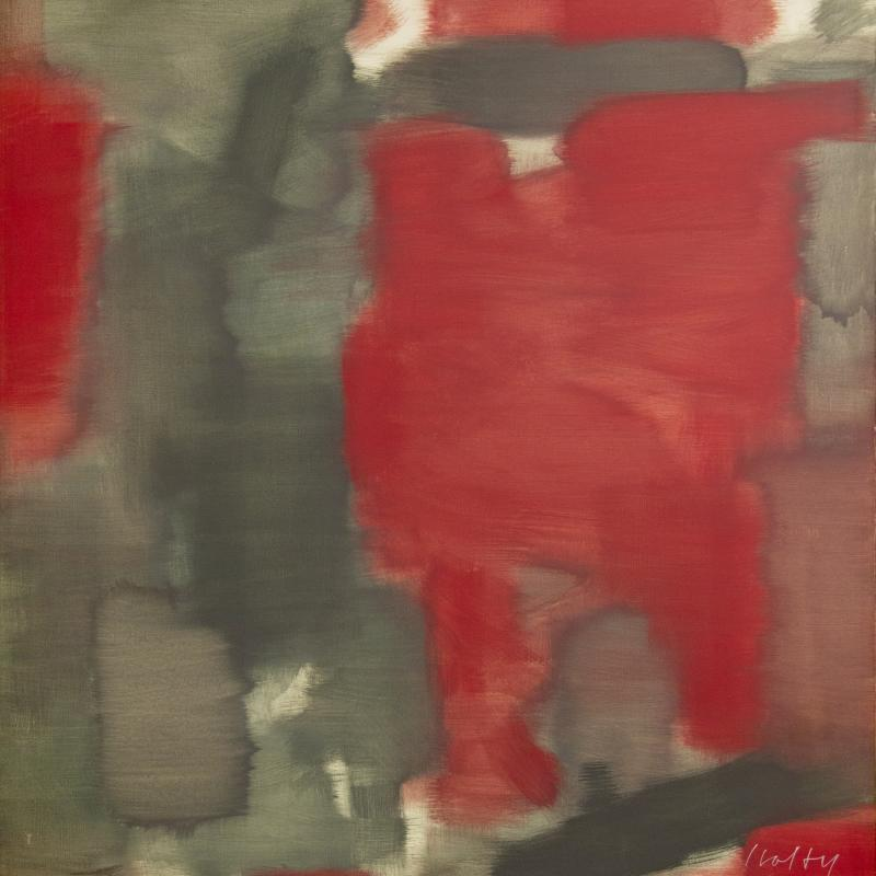 Carl Holty, Twelfth Night (Red, Gray), 1962