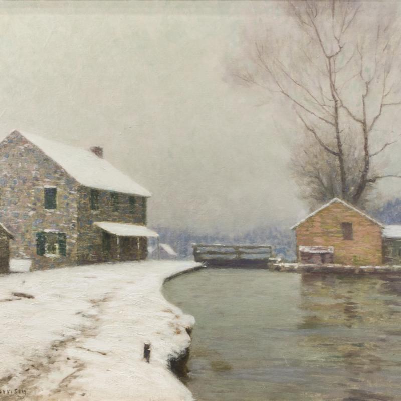 Birge Harrison, The Lock in Winter
