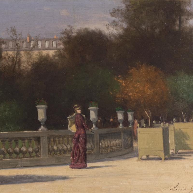 Louis Jacquand, French Gardens, Circa 1870-1900